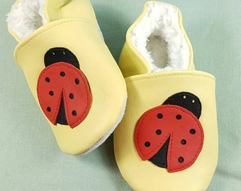 Personalised babies and toddlers leather booties