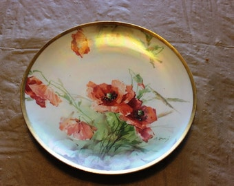 Pretty Poppy collector plate