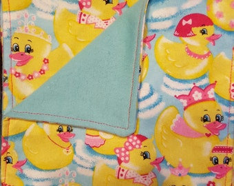 Rubber duck flannel wipes