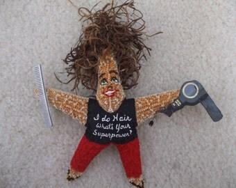 Hairdresser Starfish Ornament, Hairdresser Ornaments, Hairdresser Gift, Career Gift, Career Ornaments, Christmas Ornaments