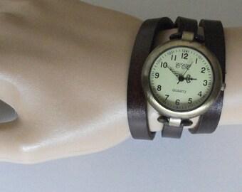 Womens watch, wrap bracelet watch, wrap watch, womens watch vintage style, unique watch designed by JuSal08