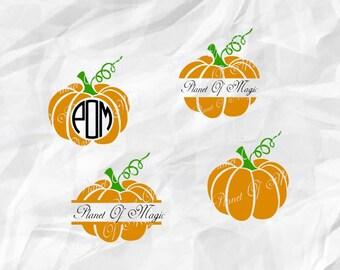 Pumpkin Monogram Svg, Halloween Svg, Pumpkin Svg, Fall Svg, Pumpkin Cutting File, Thanksgiving SVG, Pumpkin DXF, Cricut File, Halloween DXF