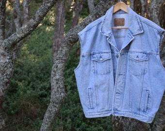 80's GAP acid wash denim vest