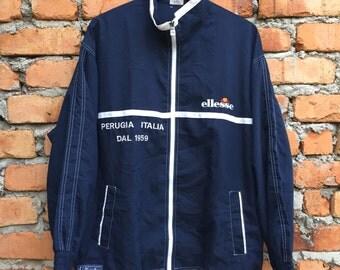 Vintage ELLESSE Perugia Italia windbreaker jacket