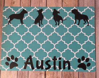 Personalized Dog Placemat, Dog Placemat, Dog, Custom, Dog Food, Paw Print, Dachshund, Doxie, Yorkie, Any Breed, Placemat