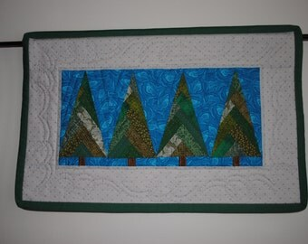 Wall Hanging  STARRY NIGHT TREES