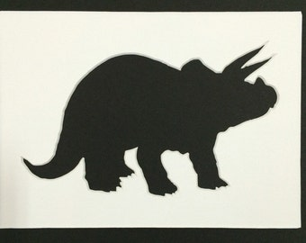 Triceratops Stencil Made from 4 Ply Mat Board