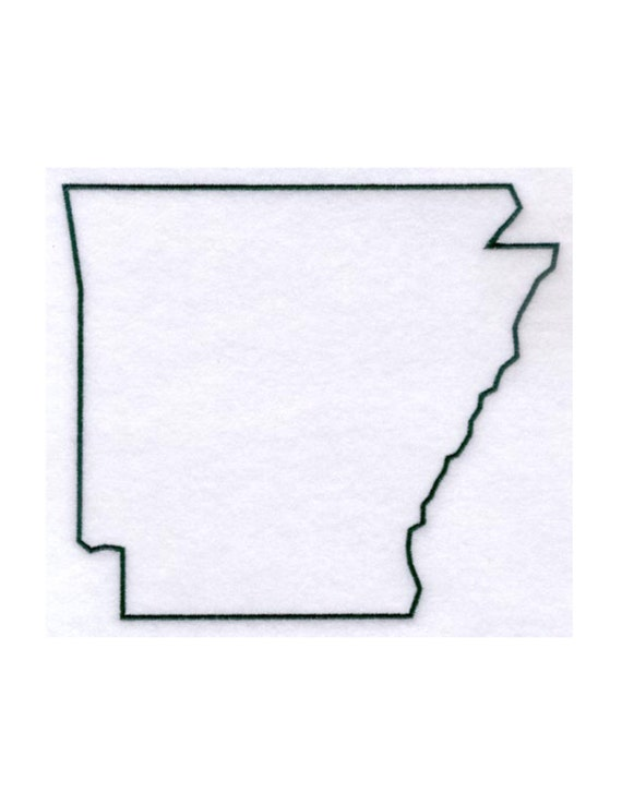 Arkansas Stencil Made From 4 Ply Mat Board By