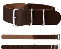 Clasp Buckle Strap Genuine Trendy Mens Leather Wrist Watch Band