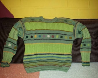 Handmade men wool sweater