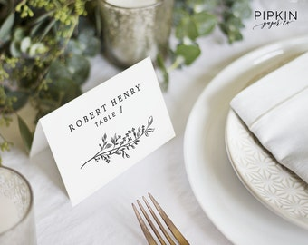 templates for place cards for weddings - wedding details card template printable wedding invitation