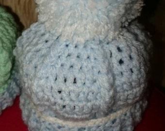 Baby boy pom pom hat/beanie 0/3mths new