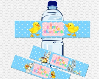 Easter bottle labels / Digital Download