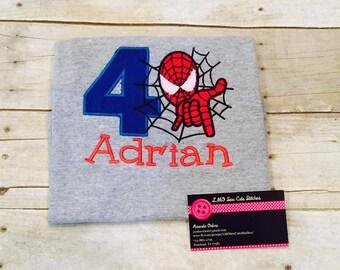 Spider Hero Birthday Shirt, First Birthday Shirt
