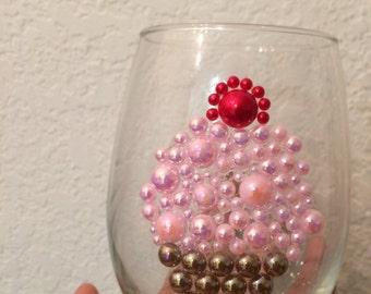 Cherry on top Wine Glass