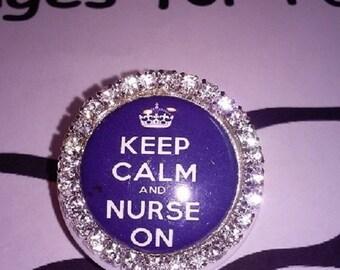 Nurse ~ Keep Calm ID Badge Holder