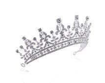 Luxury Wedding Bridal Crystal Tiara Crowns Princess Queen Pageant Prom Rhinestone Veil Tiara Headband Wedding Hair Accessory