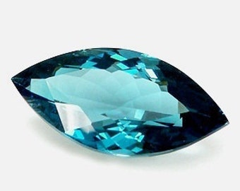 AAA Marquise Shape Genuine Faceted London Blue Topaz  (6X3mm-15X7mm). 811-941