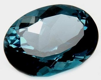Oval Faceted Genuine (Natural) London Blue Topaz 5x3-12x10mm (.a26197)