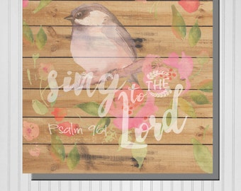 Personalized Sing to the Lord Print (Canvas or Metal)