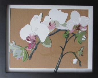 Papercut Orchid: hand-cut, paper floral art