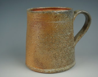 Mug - Anagama Wood Fired - Raw Ash Glaze with Flashing