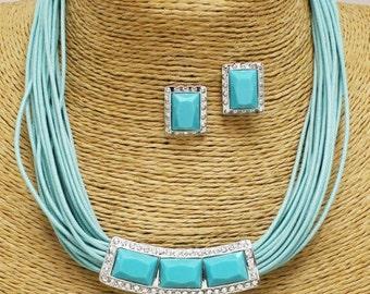 Coral Blue Necklace