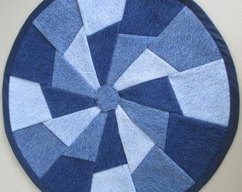small denim table mat/doilies
