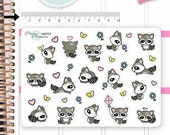 Kawaii Raccoons Stickers Cute Raccoons Stickers Planner Stickers Erin Condren Functional Stickers Decorative Stickers NR707