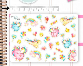 Unicorn Stickers Unicorn Planner Stickers Planner Stickers Erin Condren Decorative Stickers Live Planner NR745