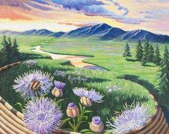 N It's Basketflower, Honey (unframed)