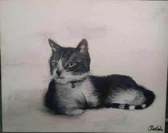 Acrylic paintings on canvas, Dolly the cat