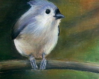 "Titmouse ""Sidle"" Giclee Print"