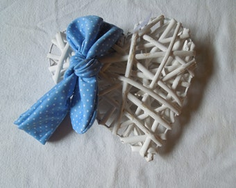 Topknot headband - Baby/Toddler/Child. Baby blue spots and baby pink spots