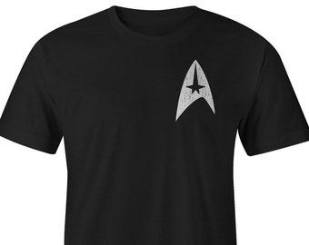 Star Trek T-Shirt Left Chest, Star Trek Tee, Star Trek Shirts, Star Trek T-shirts, Star Trek Tees, Star Trek Shirt, Star Trek Beyond