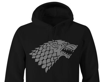 Game of Thrones Hoodie, Game of Thrones Stark Hoodie, Game of Thrones Stark Hoodies, Game of Thrones Stark logo, Stark Hoodie