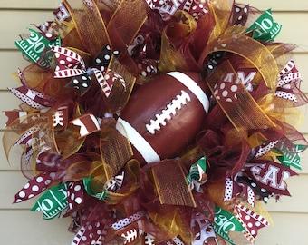 Deco Mesh Football Wreath