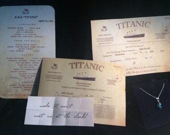 Titanic Ticket-Menu-Notes-Necklace