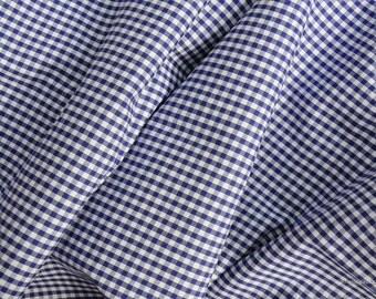 Vichy fabric blue checkered 2.5 mm Eco-Tex standard 100