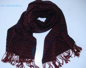Silk scarf hand woven cashmere silk merino wool scarf