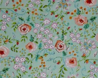 1 yard - Dena Designs Meadow Primrose in Coral Fabric