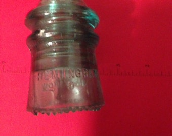 Great Hemingray # 9  Aqua  telephone insulator