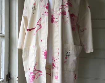 Vintage cotton robe