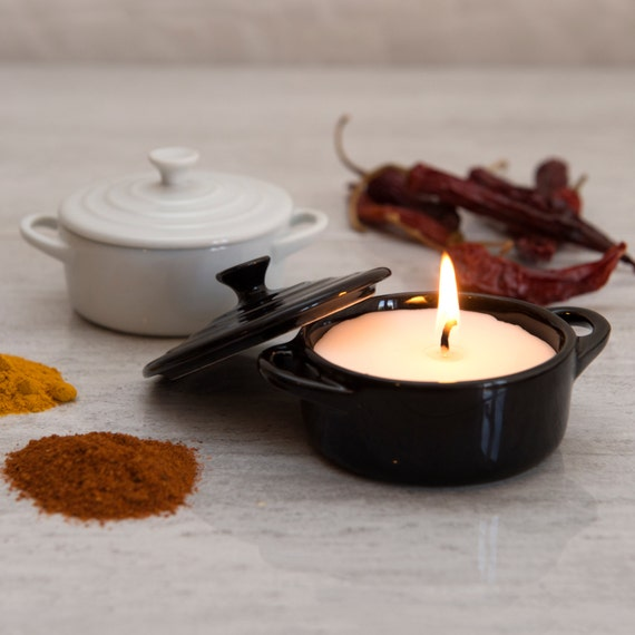 Curry Scented Candle In A Casserole Dish - Scented Candle - Curry lovers Gift - Gifts for Husband - Gifts for Boyfriend