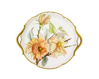 T and V Limoges Plate by Tressemanes & Vogt Two Handled Platter