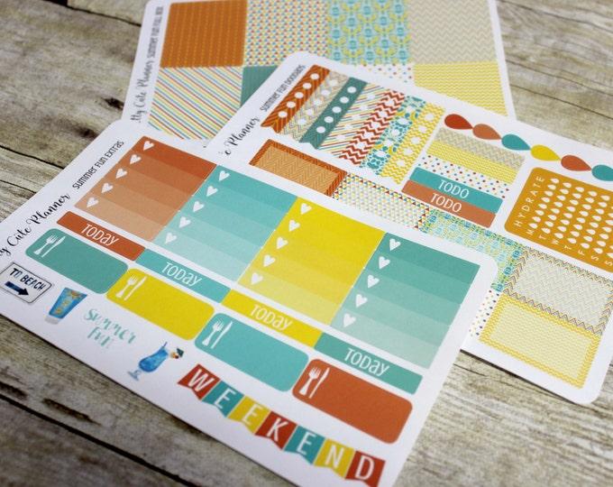 Planner Stickers -Weekly Planner Sticker Set - Erin Condren Life Planner - Happy Planner - Day Designer - Functional stickers  - Summer Fun