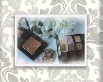 Bobbi Brown Highlighter and Tarte Eyeshadow Watercolour digital print. Instant Download. Makeup Print. Vanity Print. Girls Room. Beauty
