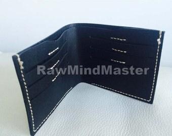 Handmade Minimalist Black Leather wallet
