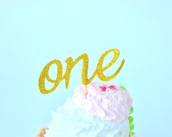 One Cupcake Toppers First Birthday Cupcake Toppers First Birthday Decoration Birthday Cupcake Topper Glitter Cupcake Toppers Anniversary