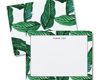 Palm border - personalized notecard